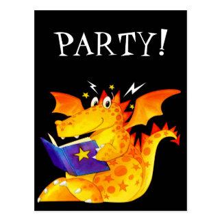 Kid's Funny Halloween Dragon Post Cards