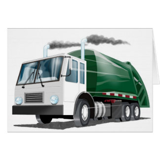 Kids Garbage Truck Card