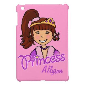Kids girls dark hair princess ipad mini cover