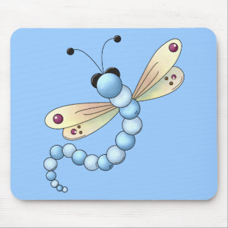 Kid's Girls Dragonfly Mouse Pad