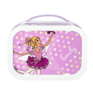 Kids girls named ballerina girl purple lunch box