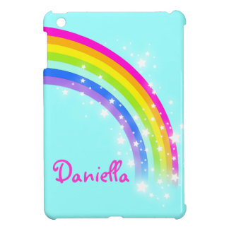Kids girls named colorful rainbow aqua ipad mini iPad mini cases
