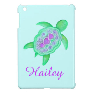 Kids girls named colorful turtle green ipad mini iPad mini covers