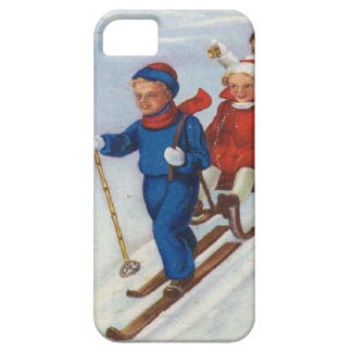 Kids go skiing iPhone 5 cover
