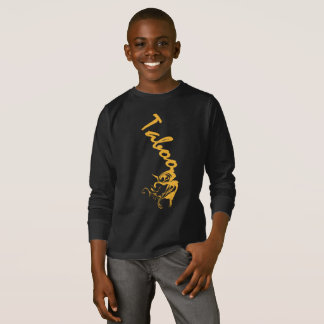 Kids Gold dripping Taboo long sleeves T-Shirt