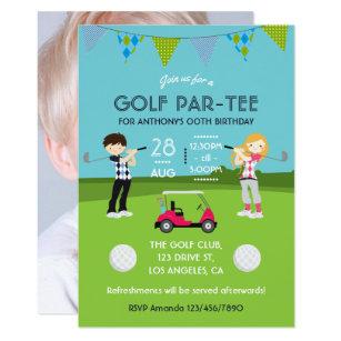 golf party invitations announcements zazzle uk. Black Bedroom Furniture Sets. Home Design Ideas