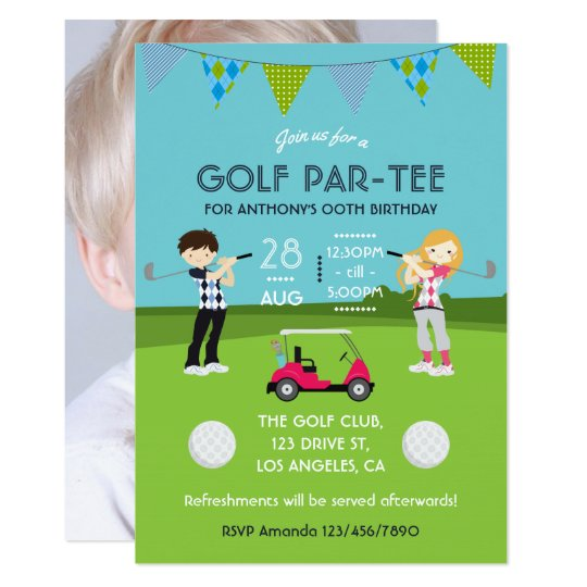 Grass Pitch Rugby Childrens Birthday Party Invitations