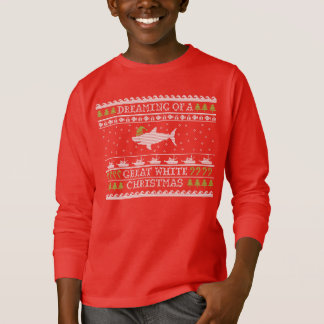 Kids Great White Christmas Ugly Sweater