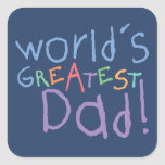 Kids Greatest Dad Father's Day Stickers