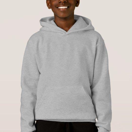 Kids Grey Customisable Plain Blank Hoodie
