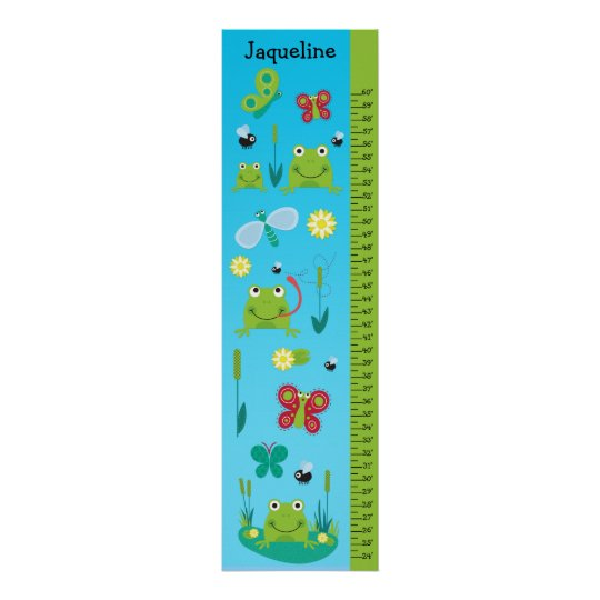 Kids Growth Chart - Frogs and Butterflies