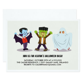 Kid's Halloween Bash Party Invitation