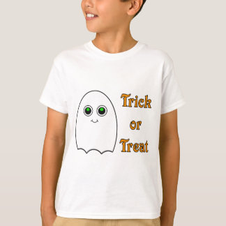 Kids Halloween Ghost Trick Or Treat T-Shirt