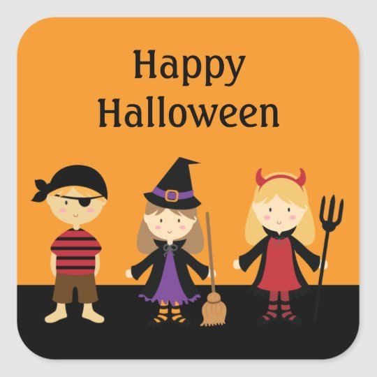 Kids Halloween Party Costume Favour Stickers