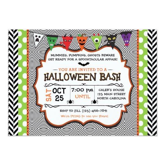 Kids Halloween Party Invitation, Birthday Invite