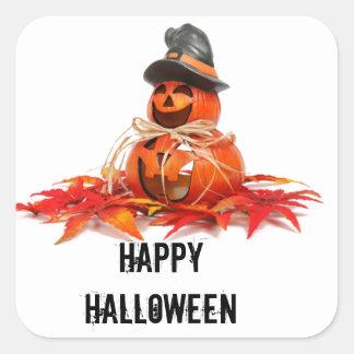 Kids Halloween Pumkins Square Sticker
