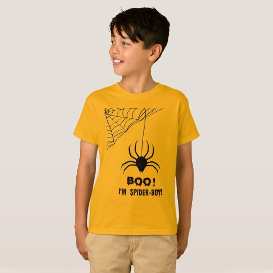 Kid's Halloween Spider-Boy Boo T-Shirt