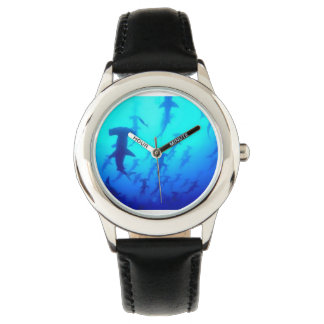 Kids Hammerhead Sharks Swimming Black Watch