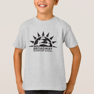Kids' Hanes_Black School logo T-Shirt