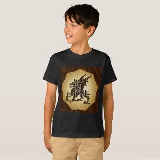 Kids' Hanes TAGLESS® T-Shirt  dragon Black Boy