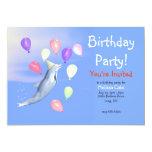 Kids Happy Birthday Party Dolphin 13 Cm X 18 Cm Invitation Card