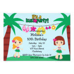 Kids Hawaiian Luau Invite