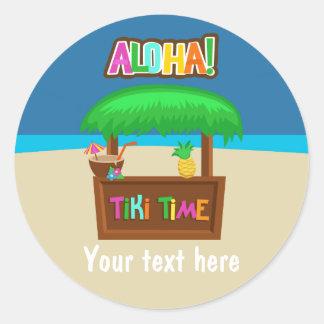 Kids Hawaiian Luau Party Classic Round Sticker