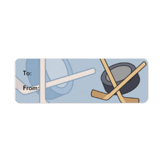 Kids Hockey Gift Tag Labels
