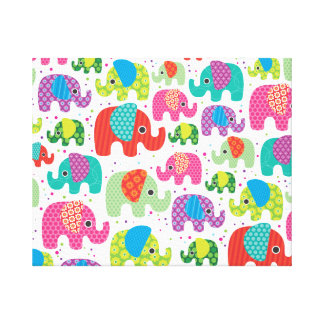 Kids home deco elephant india canvas stretched canvas prints