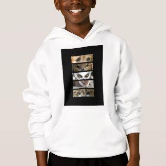Kids Hooded Sweatshirt - Animals Eyes