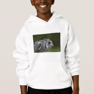 Kids Hooded Sweatshirt - Baby Grey Owl