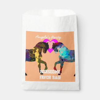 Kids Horse and Hearts Favour Bags for Kids