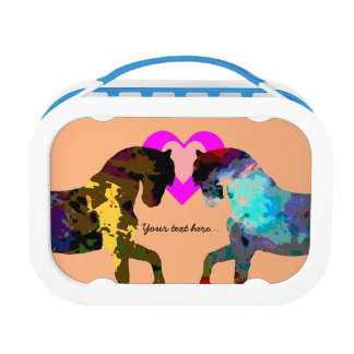 Kids Horse and Hearts Lunch Box
