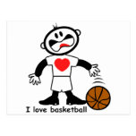 Kids I Love Basketball Postcard