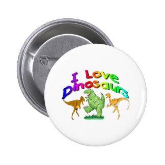 "Kids ""I Love Dinosaurs"" gifts 6 Cm Round Badge"