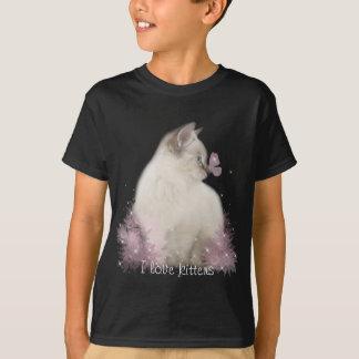 kids I love kittens t-shirt