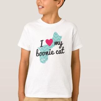 Kids' I Love My Boonie Cat Shirt (Blue)