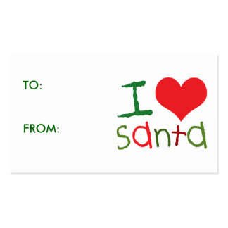 Kids I Love Santa Gift Tags Pack Of Standard Business Cards