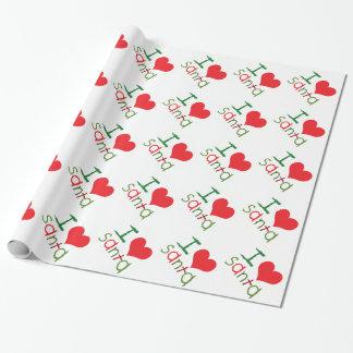 Kids I Love Santa Holiday Wrapping Paper