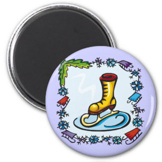 Kids Ice Skating T Shirts and Kids Gifts Refrigerator Magnets