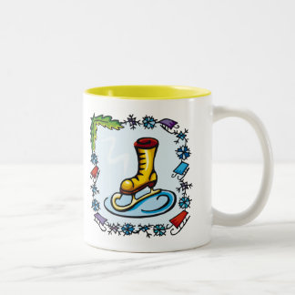 Kids Ice Skating T Shirts and Kids Gifts Two-Tone Coffee Mug