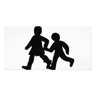 kids icon customized photo card