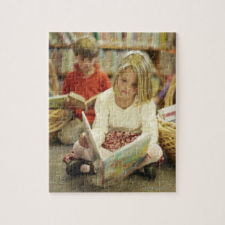 Kids in a library jigsaw puzzle