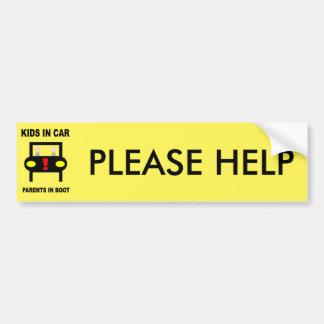 KIDS IN CAR BUMPER STICKER