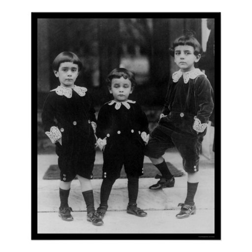Kids in Little Lord Fauntleroy Suits 1914 Poster