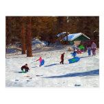 Kids in Snow Postcards