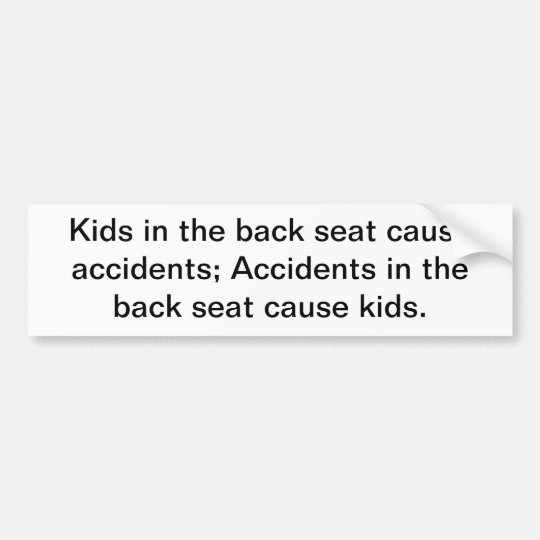 Kids in the back seat cause accidents; accidents