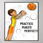 Kids Inspirational Basketball Poster