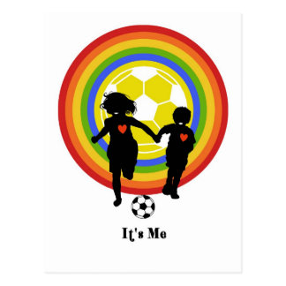 Kids it s me soccer fans and player post cards
