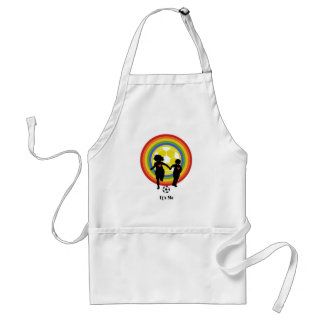 Kids, it's me, soccer fans and player standard apron